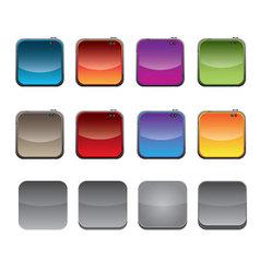 I phone App Templates vector