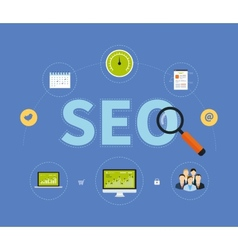 Icons set of website SEO vector