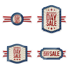 Independence day festive labels set vector
