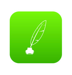 ink with pen icon digital green vector image