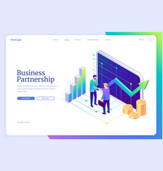 landing page business partnership vector image