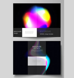layout of two a4 format cover mockups vector image