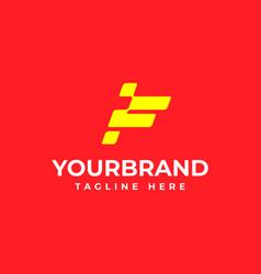 Letter f racing flag logo design racing logo vector