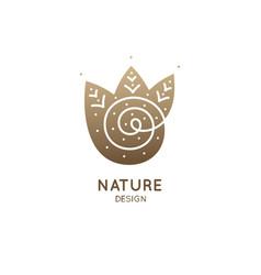 logo spiral river vector image