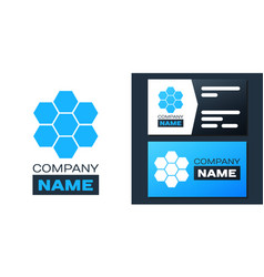 Logotype honeycomb sign icon isolated on white vector