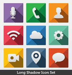 Long Shadow Icons vector image