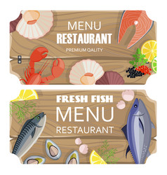 menu restaurant premium set vector image