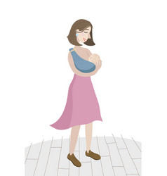 Mother breastfeeding her young child breastfeed vector