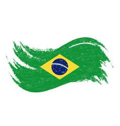 national flag of brazil designed using brush vector image