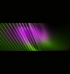 Neon light lines concept abstract vector