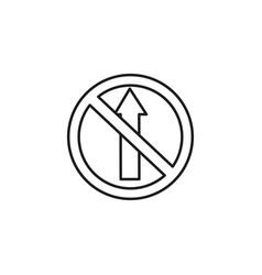 no entry road sign icon vector image