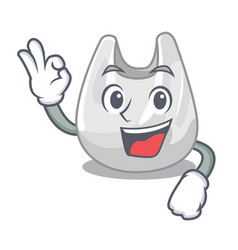 okay plastic bag character cartoon vector image