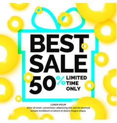 original concept poster discount sale banner vector image