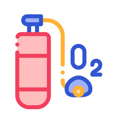 Oxygen cylinder alpinism equipment icon vector