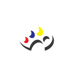 painting palette painter logo icon element vector image