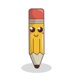 Pencil write character isolated icon vector