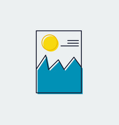 Picture line flat icongraphic design vector