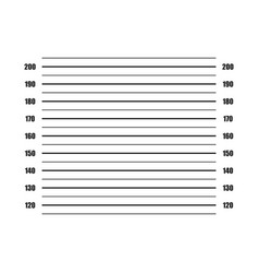 Police lineup on white background in flat vector