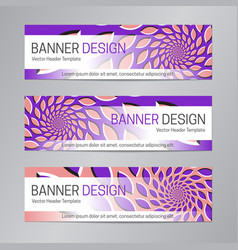 purple pink banner design web header template vector image