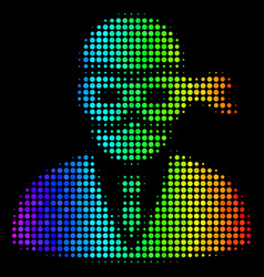 Rainbow colored pixel masked thief icon vector