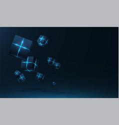Realistic 3d cubes vector