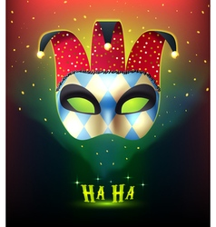Realistic carnival mask background vector
