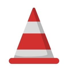 Road repair cone sign vector image