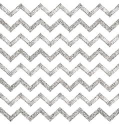 Seamless pattern of silver glitter zigzag chevron vector image