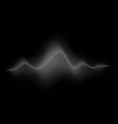 sound wave abstract music pulse background audio vector image