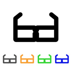 spectacles stroke icon vector image