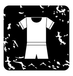 Sport uniform icon grunge style vector