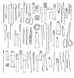 Stationery art materials vector
