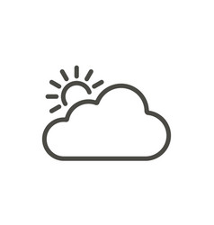 sun cloud icon line weather symbol vector image