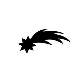 symbol christmas silhouette christmas star vector image