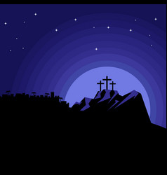 The night after the crucifixion of jesus vector