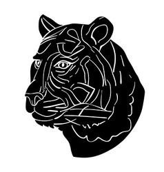 tiger avatar vector image