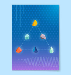 triangle natural stones connected with line vector image