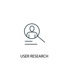 user research concept line icon simple element vector image