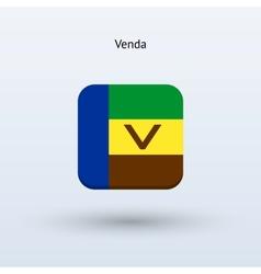 Venda flag icon vector