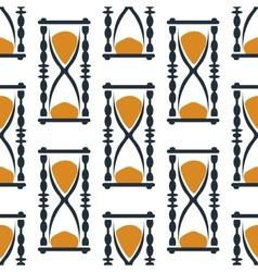 Vintage hourglasses or sandglasses seamless vector image