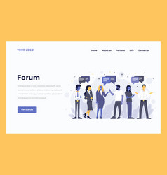 Web design flat modern concept - forum vector