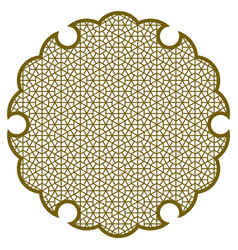 Yukiwa snowflake with pattern in japanese style vector