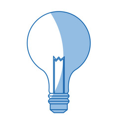 bulb light electric innovation science shadow vector image