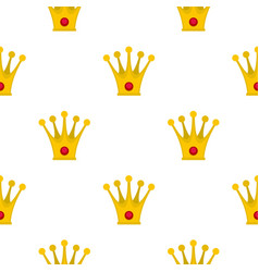 crown pattern seamless vector image