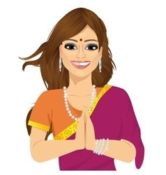 Traditional indian woman vector