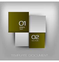 business four squares dark green with text vector image vector image