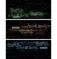 dark tech banners vector image