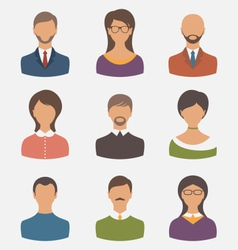 different human icons isolated on white background vector image vector image
