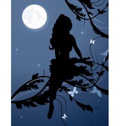 Fairy silhouette1 vector