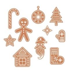 Gingerbread cookies vector